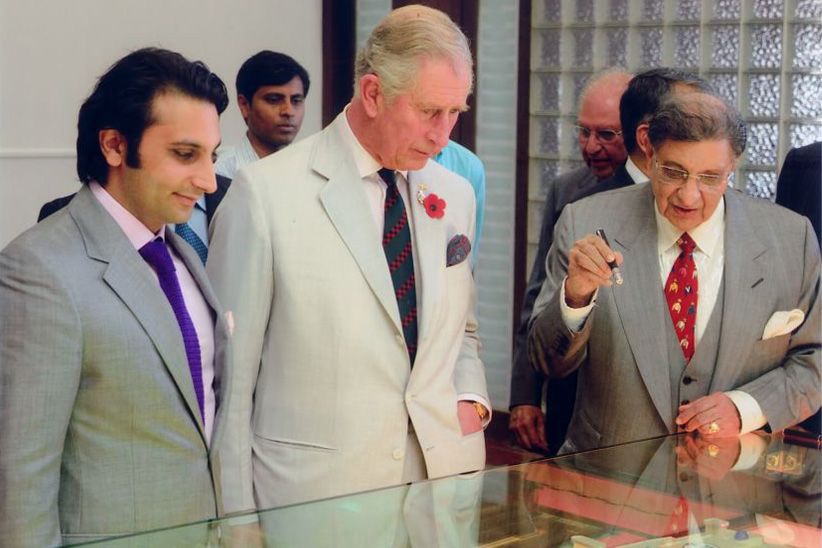 Cyrus Poonawalla and Adar Poonawalla with Prince Charles